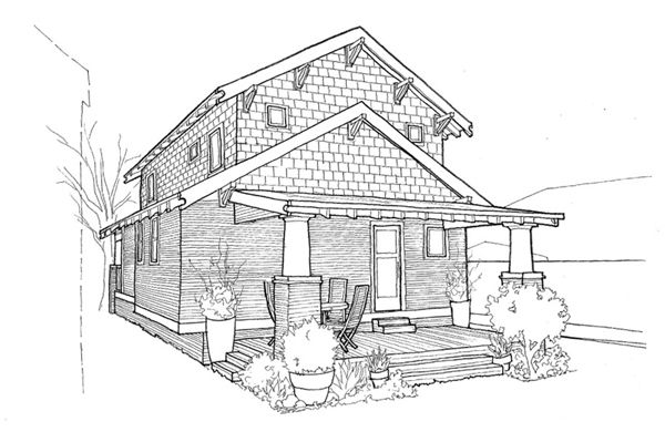 House Architecture Drawing Architectural Drawing Stock Images